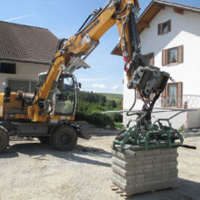 Vorbereitung von Material durch die Fa. Andreas Bauer GmbH
