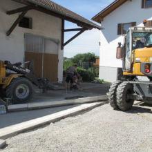Bepflasterung eines Hofes durch die Fa. Andreas Bauer GmbH
