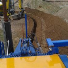 Ausheben eines Kanals für eine Wasserleitung