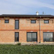 Einfamilienhaus in der Rohbauphase