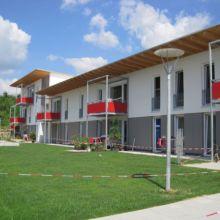 Moderner Wohnkomplex erstellt durch die Fa. Andreas Bauer GmbH aus einer anderen Perspektive