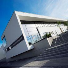 Moderner Gewerbebau erstellt durch die Fa. Andreas Bauer GmbH aus einem anderen Blickwinkel
